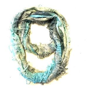 Funky distressed infinity scarf